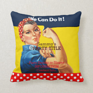 It's Your Rosie Party Crasher Personalize it Throw Pillow