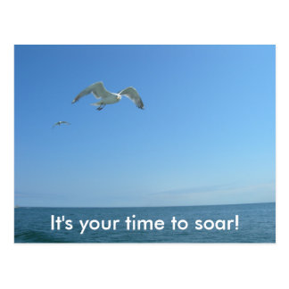 It's your time to soar postcard