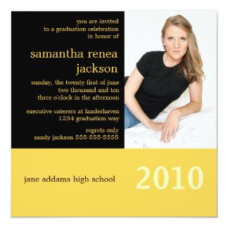 It's Your Year Graduation Invitation (Black)