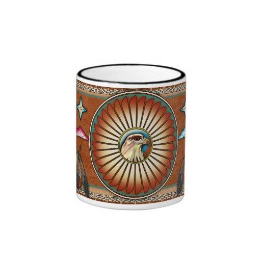 Itsee'tsoli ~ Red Hawk Ringer Coffee Mug