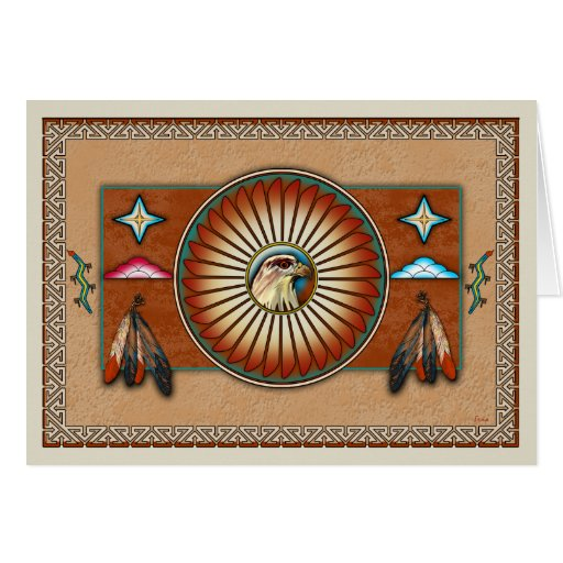 Itsee'tsoli~Red Tailed Hawk Greeting Card