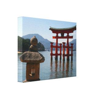 itsukushima torii canvas