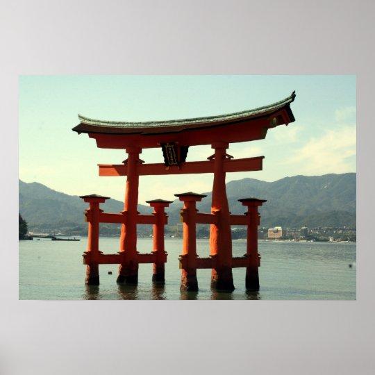 itsukushima torii poster