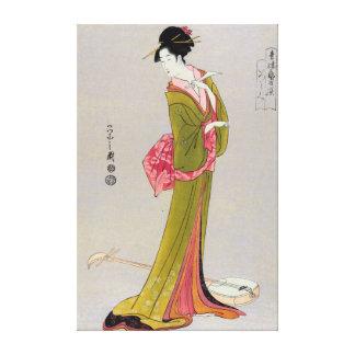 Itsutomi (1793) by Eishi Hosoda 1756-1829 Canvas Print