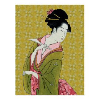 Itsutomi (1793) by Eishi Hosoda 1756-1829 Postcard