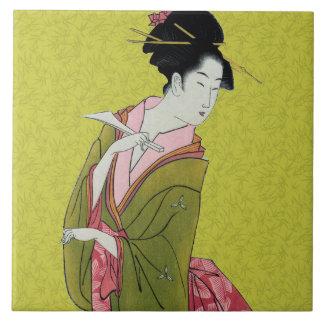 Itsutomi (1793) by Eishi Hosoda 1756-1829 Tile