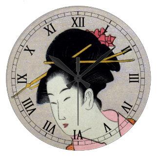 Itsutomi (1793) by Eishi Hosoda 1756-1829 Wall Clock