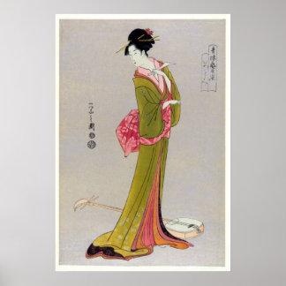 Itsutomi (1793) por Eishi Hosoda 1756-1829 Posters