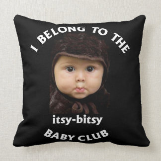 Itsy-Bitsy Baby Club Throw Pillow