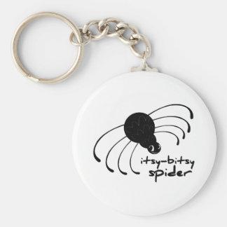 Itsy-Bitsy Spider Basic Round Button Keychain