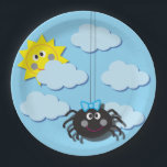 "Itsy Bitsy Spider Party Plate<br><div class=""desc"">This was made for my daughter&#39;s itsy bitsy spider birthday party. It&#39;s cute and fun and has matching invitations!</div>"