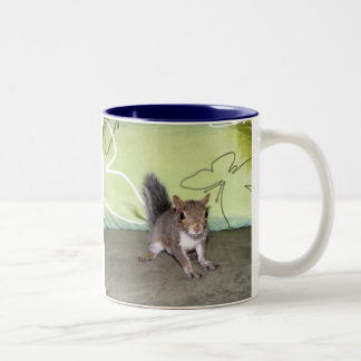Itsy Bitsy Squirrel - C Two-Tone Coffee Mug