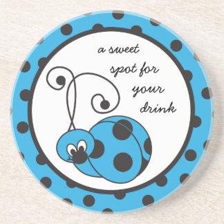Itty Bitty Blue Ladybug Coaster