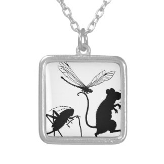 Itty Bitty Critters Silver Plated Necklace