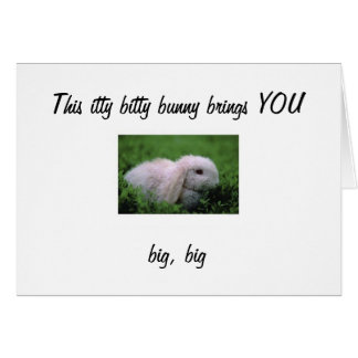 ITTY BITTY EASTER BUNNY BIG WISHES CARDS
