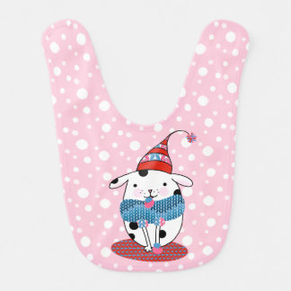 Itty Bitty Knitting Doggie Baby Bib