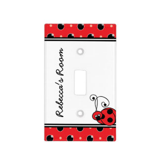 Itty Bitty Ladybug Light Switch Cover - Red