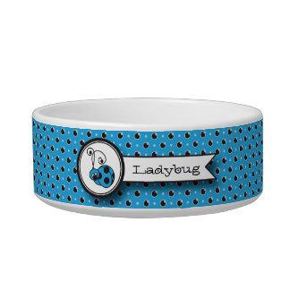 Itty Bitty Ladybug Pet Bowl - Blue Cat Water Bowl
