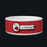 """Itty Bitty Ladybug Pet Bowl - Red<br><div class=""""desc"""">This Itty Bitty Ladybug can&#39;t wait to meet your pet. He is sure to bring a smile to everyone&#39;s face.  Personalize the bowl with your pet&#39;s name.  The design is also available tin blue and yellow.</div>"""