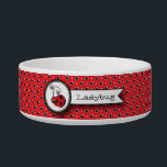 "Itty Bitty Ladybug Pet Bowl - Red<br><div class=""desc"">This Itty Bitty Ladybug can&#39;t wait to meet your pet. He is sure to bring a smile to everyone&#39;s face.  Personalize the bowl with your pet&#39;s name.  The design is also available tin blue and yellow.</div>"