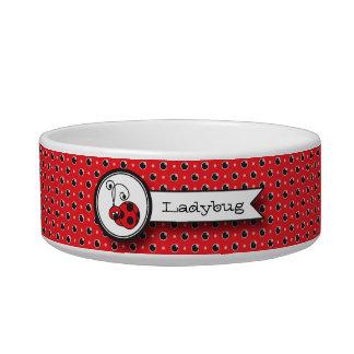 Itty Bitty Ladybug Pet Bowl - Red