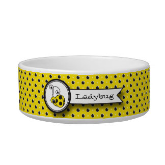 Itty Bitty Ladybug Pet Bowl - Yellow