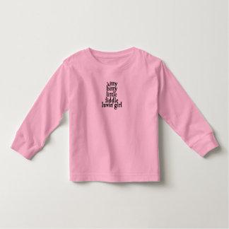 itty bitty little fiddle luvin' girl toddler t-shirt