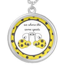 Itty Bitty Yellow Ladybug Best Friends Necklace