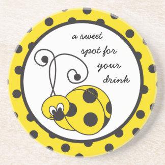 Itty Bitty Yellow Ladybug Coaster