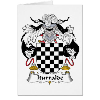 Iturralde Family Crest Greeting Card