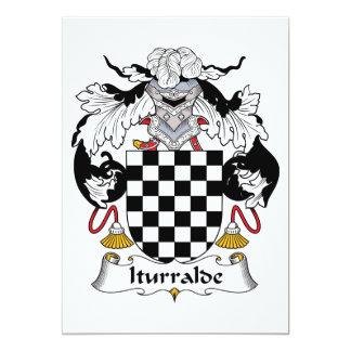 Iturralde Family Crest 5x7 Paper Invitation Card