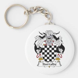 Iturralde Family Crest Basic Round Button Keychain