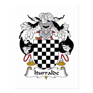 Iturralde Family Crest Postcard
