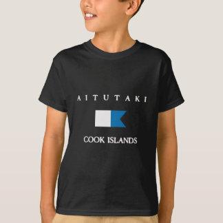 itutaki Cook Islands Alpha Dive Flag T-Shirt