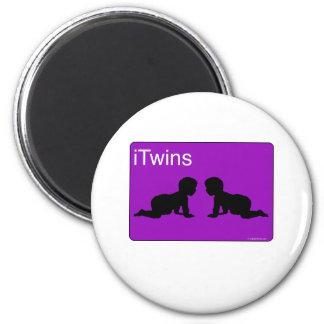 iTwins púrpuras Imanes Para Frigoríficos