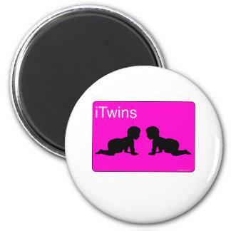 iTwins rosados Imán De Frigorífico