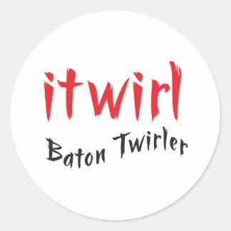 itwirl classic round sticker