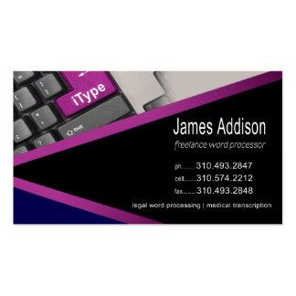 iType - Freelancer experto del procesamiento de te Plantillas De Tarjeta De Negocio