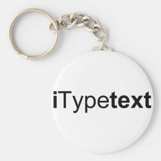 iTypetext keychain