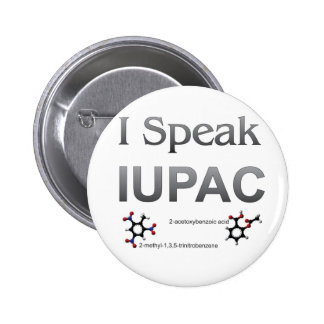 IUPAC International Union Pure & Applied Chemistry 2 Inch Round Button