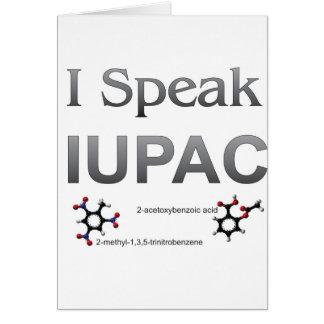 IUPAC International Union Pure & Applied Chemistry Greeting Card