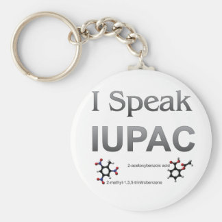 IUPAC International Union Pure & Applied Chemistry Basic Round Button Keychain