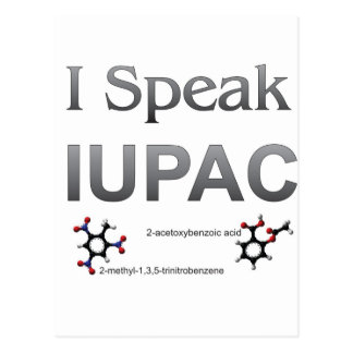 IUPAC International Union Pure & Applied Chemistry Postcard
