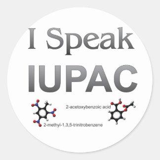 IUPAC International Union Pure & Applied Chemistry Classic Round Sticker