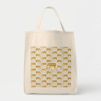 IV Bella- Elefante Tote Canvas Bags