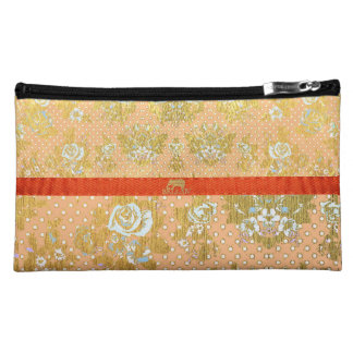 IV Bella- Golden Floral Cosmetic Bags
