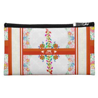 IV Bella- Mexican  Floral Makeup Bag