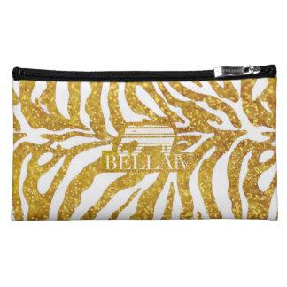 IV Bella- Zebra d'oro Makeup Bags