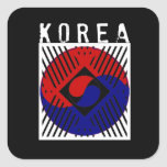 IV - Corea Calcomanías Cuadradas Personalizadas