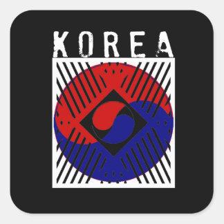 IV - Corea Calcomanias Cuadradas